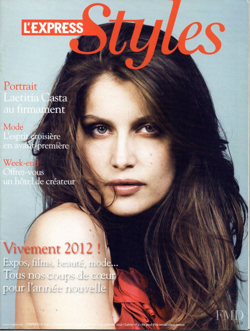 Laetitia Casta featured on the L\'Express Styles cover from December 2011