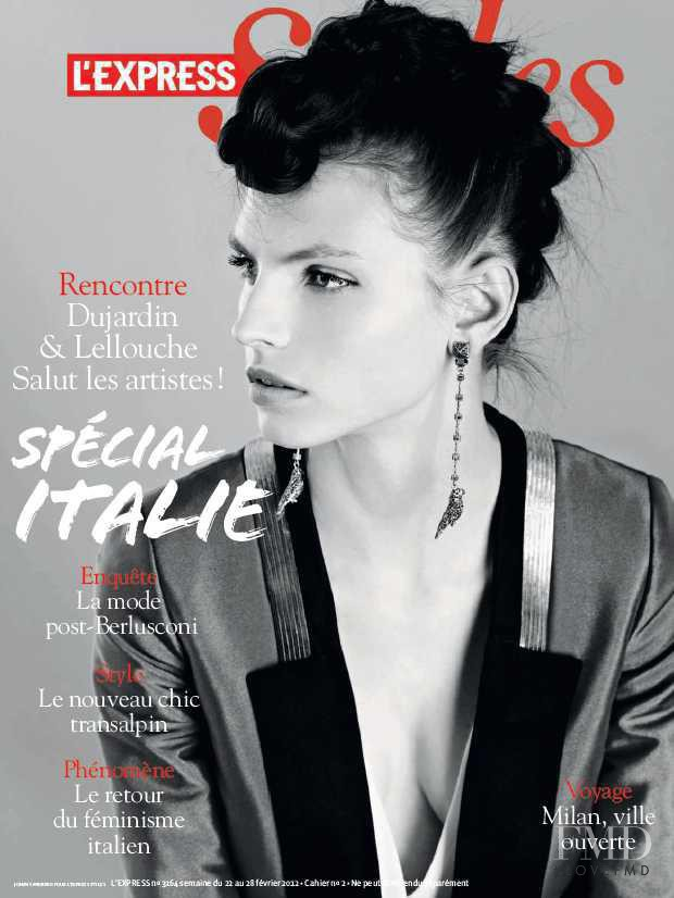 Karlina Caune featured on the L\'Express Styles cover from March 2012