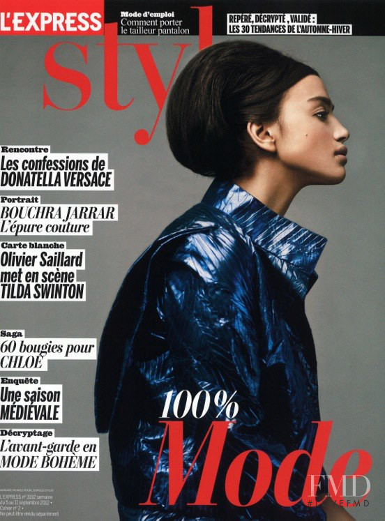 Irina Shayk featured on the L\'Express Styles cover from September 2012