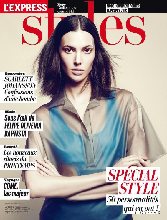 Ruby Aldridge featured on the L\'Express Styles cover from April 2013