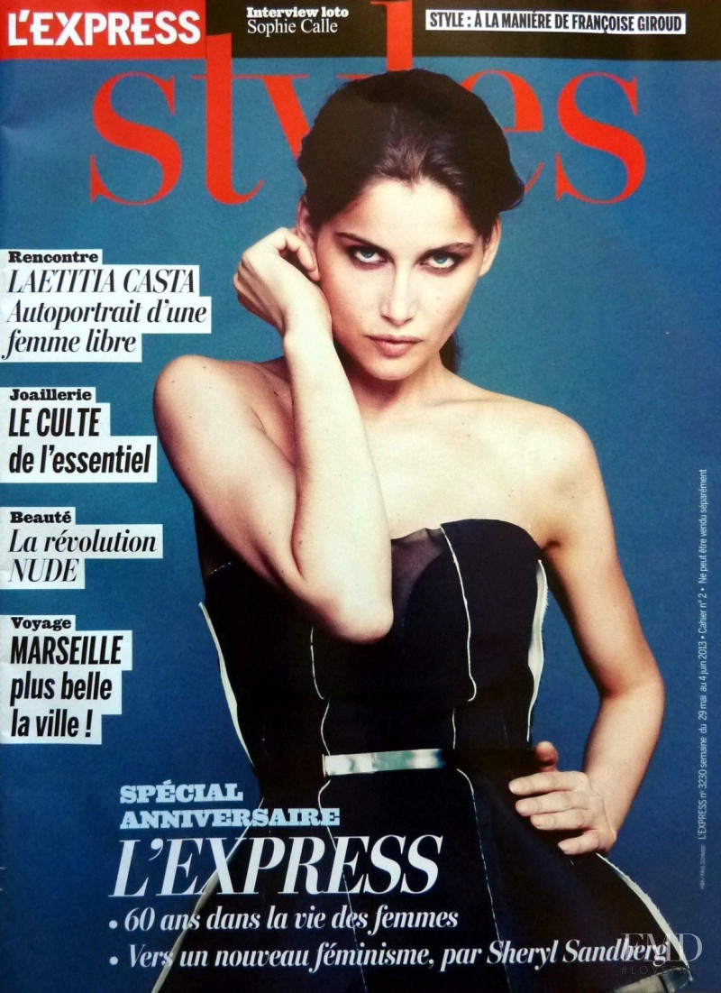Laetitia Casta featured on the L\'Express Styles cover from May 2013