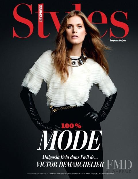 Malgosia Bela featured on the L\'Express Styles cover from September 2013