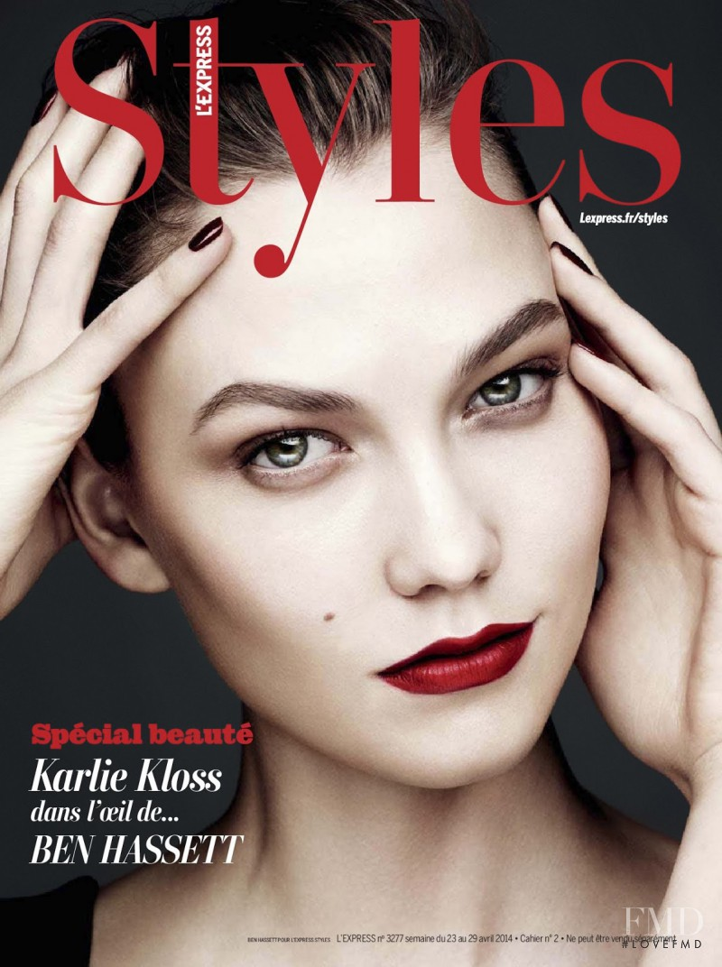 Karlie Kloss featured on the L\'Express Styles cover from April 2014