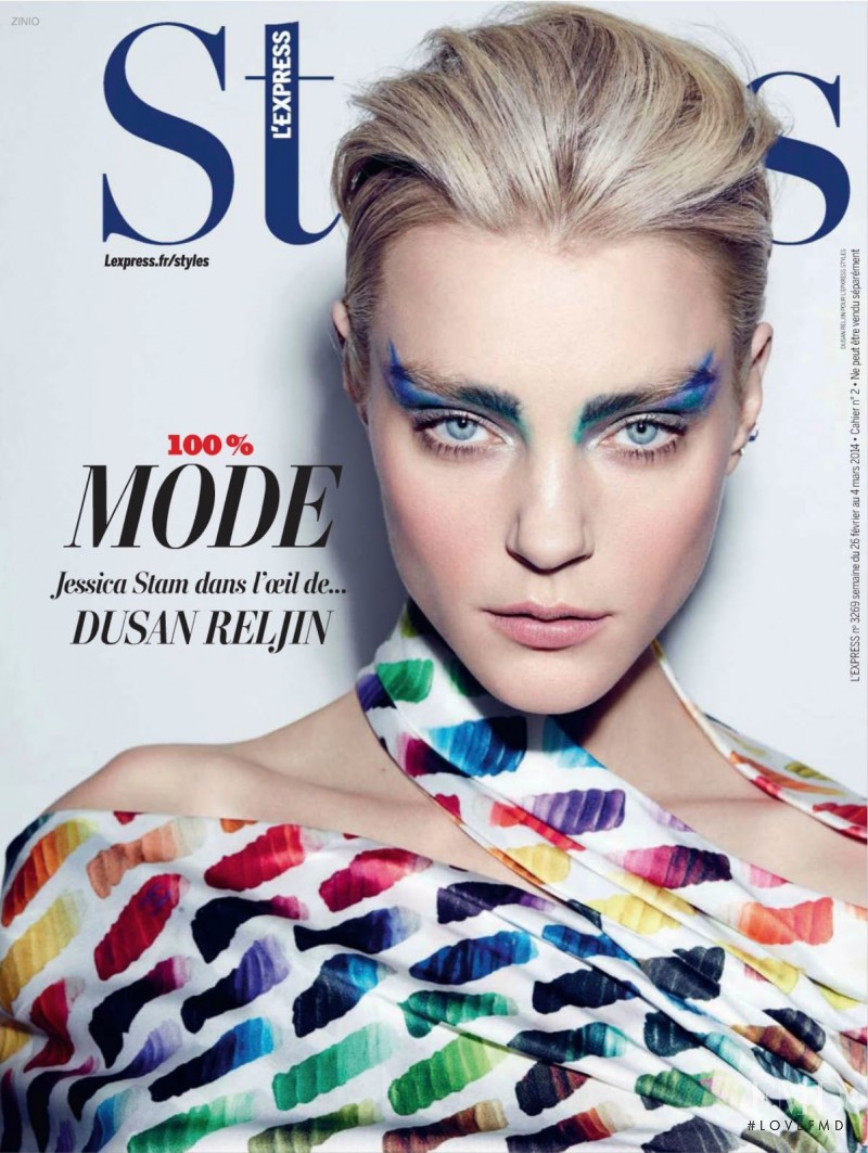Jessica Stam featured on the L\'Express Styles cover from February 2014