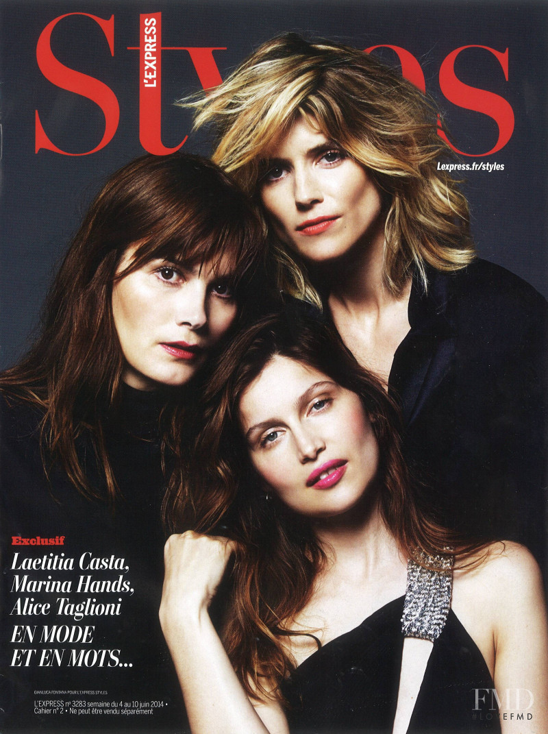 Laetitia Casta featured on the L\'Express Styles cover from June 2014