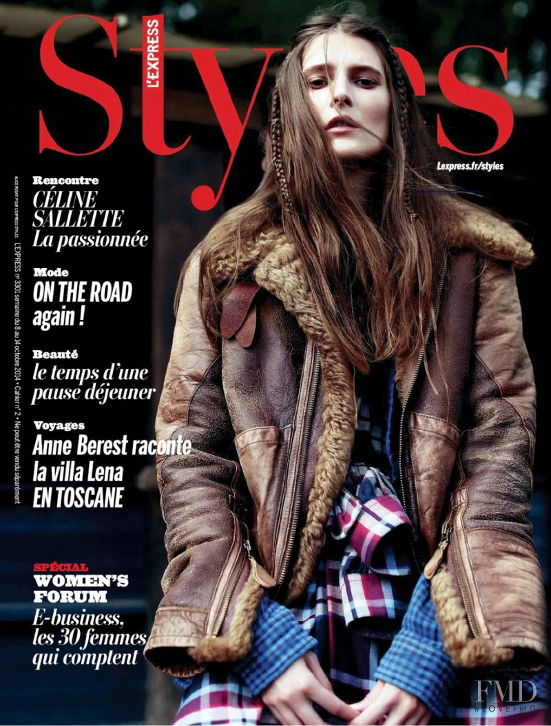 Marie Piovesan featured on the L\'Express Styles cover from October 2014