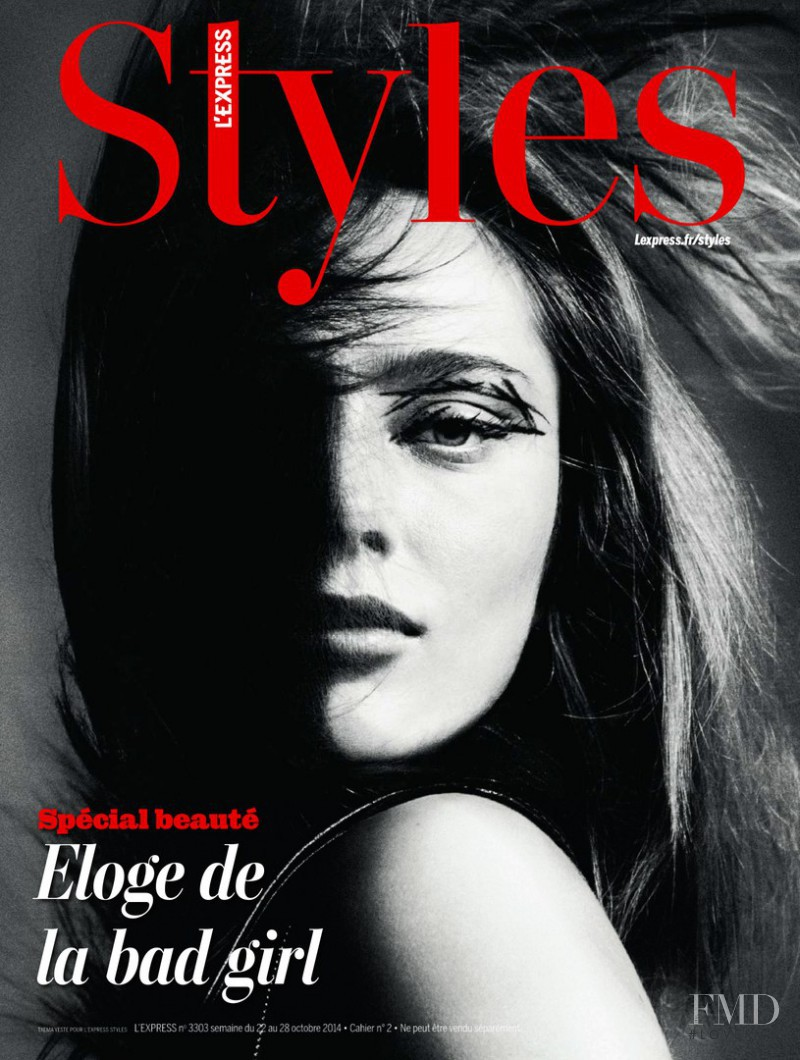 Karmen Pedaru featured on the L\'Express Styles cover from October 2014