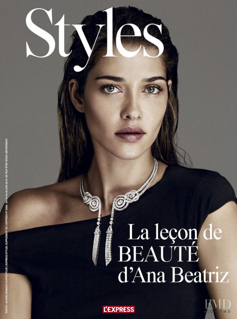 Ana Beatriz Barros featured on the L\'Express Styles cover from June 2015