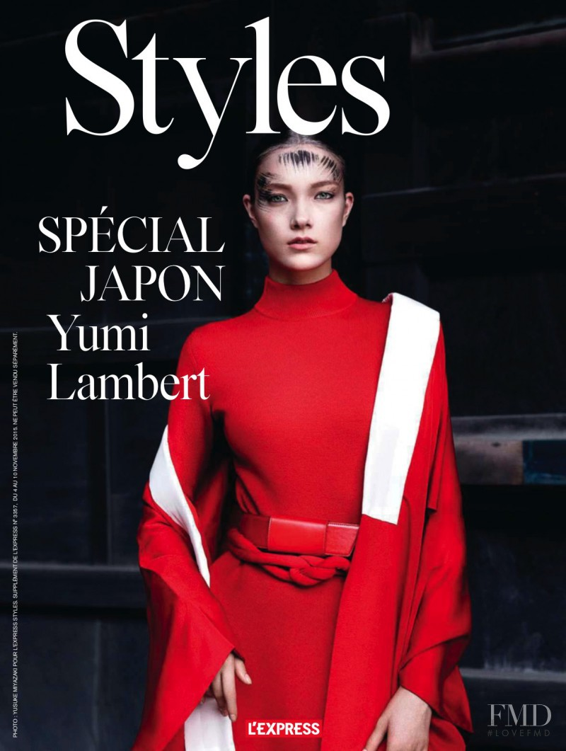 Yumi Lambert featured on the L\'Express Styles cover from November 2015