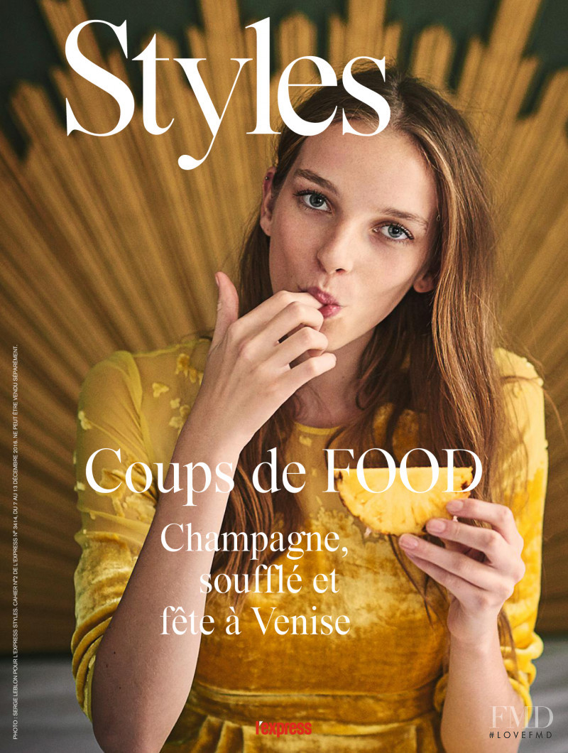 Jamilla Hoogenboom featured on the L\'Express Styles cover from December 2016