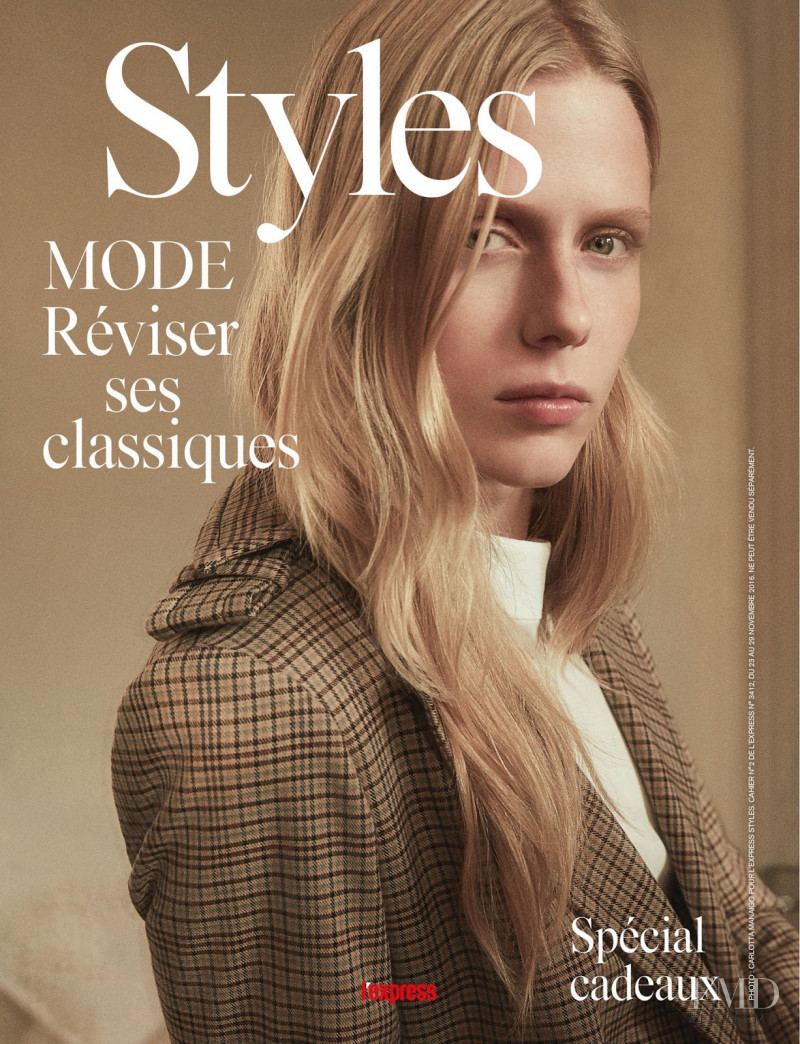 Sofie Hemmet featured on the L\'Express Styles cover from November 2016