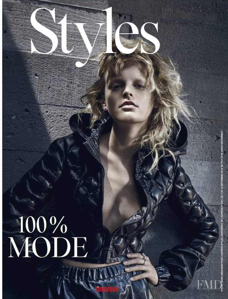 Hanne Gaby Odiele featured on the L\'Express Styles cover from September 2016