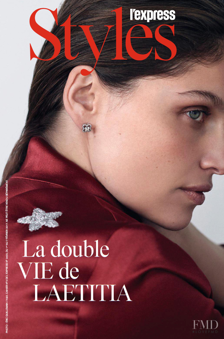 Laetitia Casta featured on the L\'Express Styles cover from February 2017