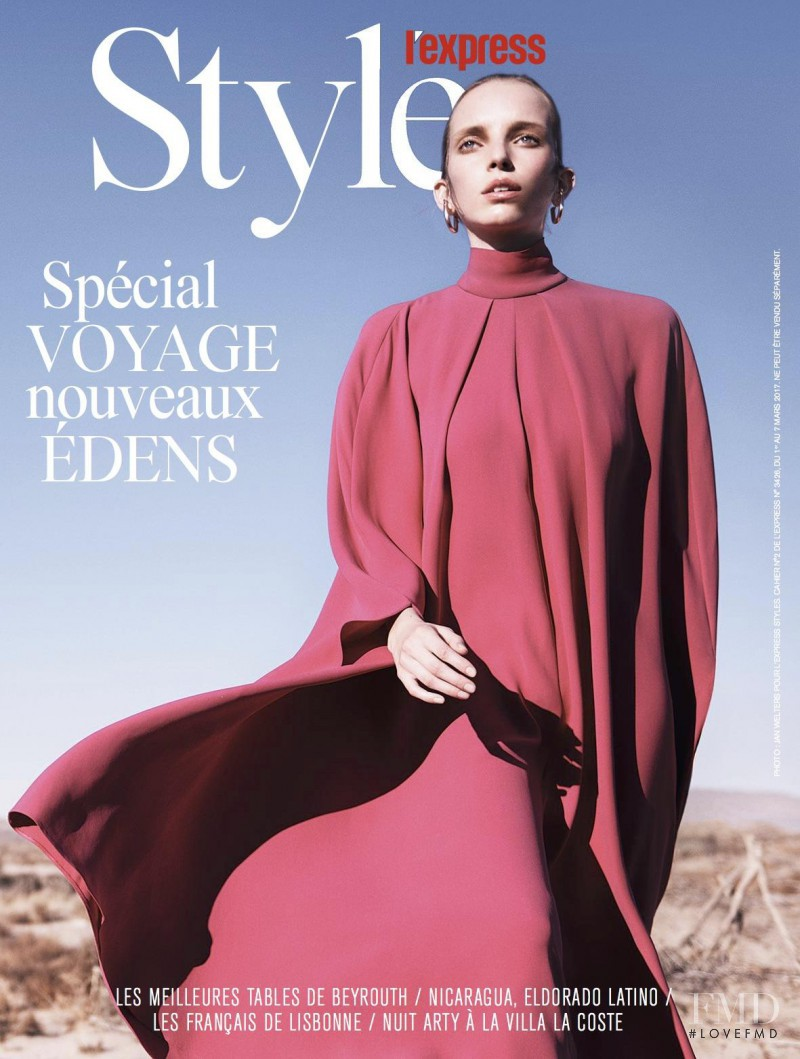Jamilla Hoogenboom featured on the L\'Express Styles cover from March 2017