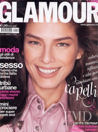 Liliana Dominguez featured on the Glamour Italy cover from April 2004