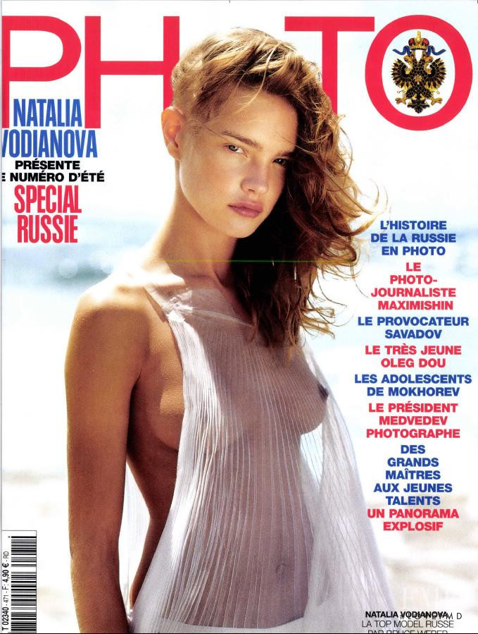 Natalia Vodianova featured on the Photo France cover from July 2010