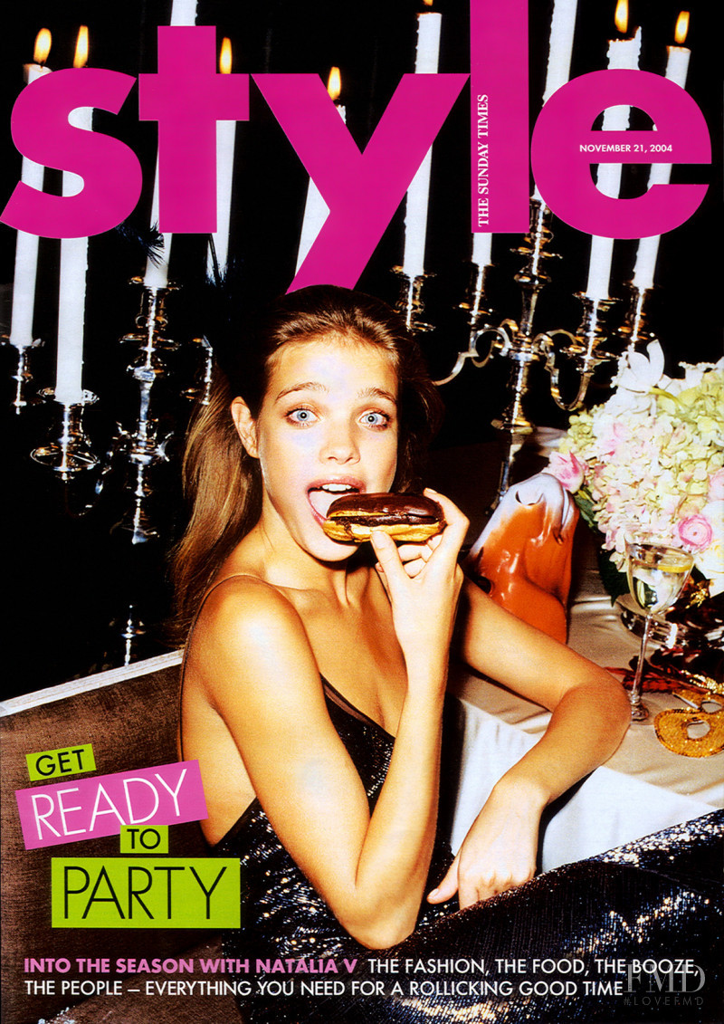 Natalia Vodianova featured on the The Sunday Times Style cover from November 2004