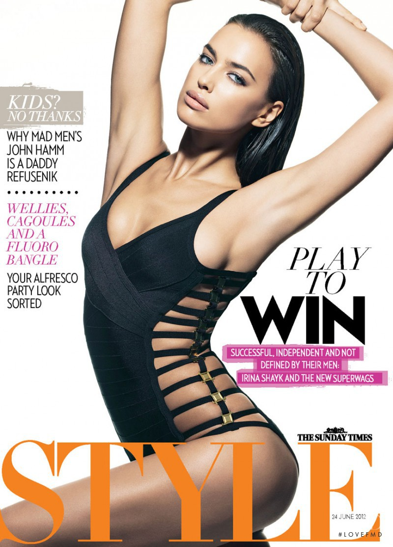 Irina Shayk featured on the The Sunday Times Style cover from June 2012