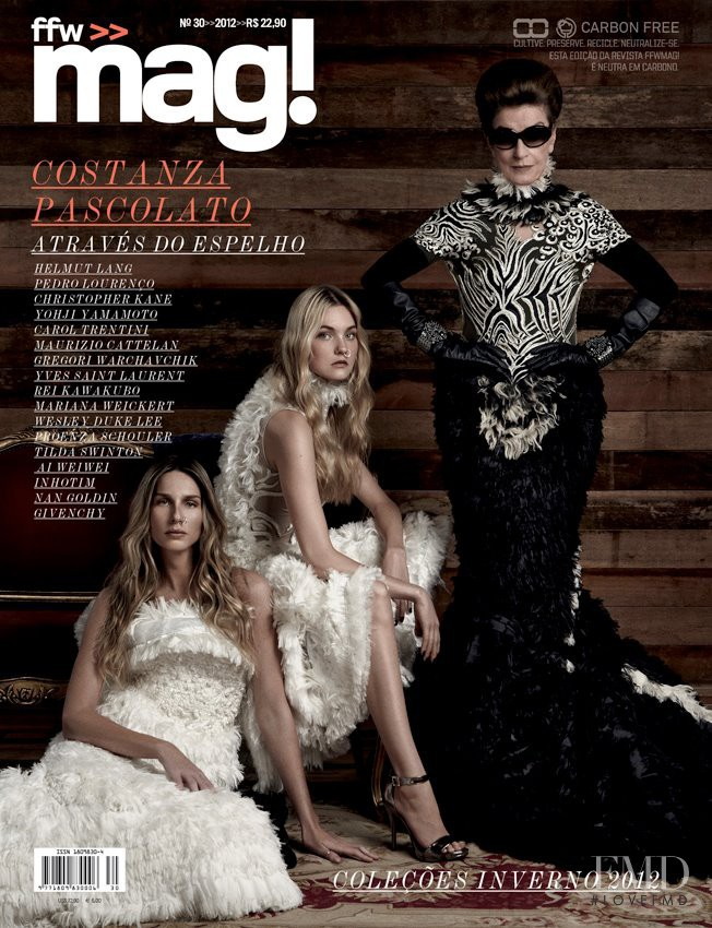 Caroline Trentini featured on the ffw mag! cover from November 2012
