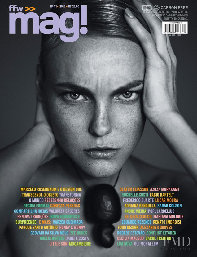 Caroline Trentini featured on the ffw mag! cover from September 2012
