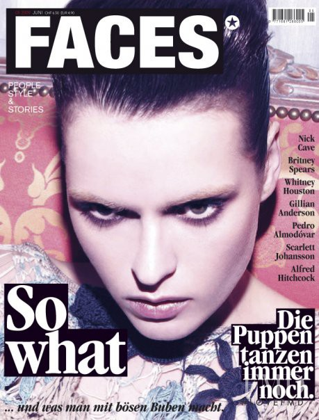 Nanou Vandecruys featured on the FACES Magazine cover from June 2009