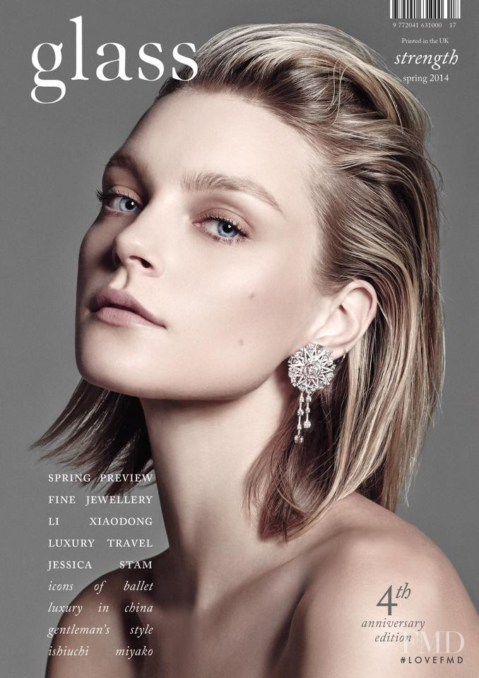Jessica Stam featured on the Glass UK cover from March 2014