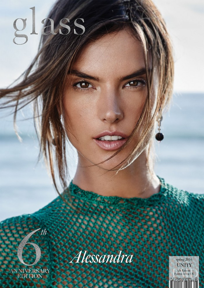 Alessandra Ambrosio featured on the Glass UK cover from February 2016