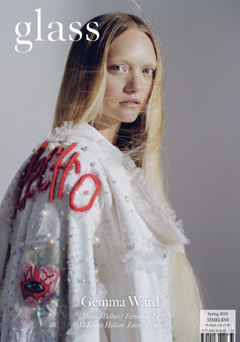 Gemma Ward featured on the glass UK cover from March 2018