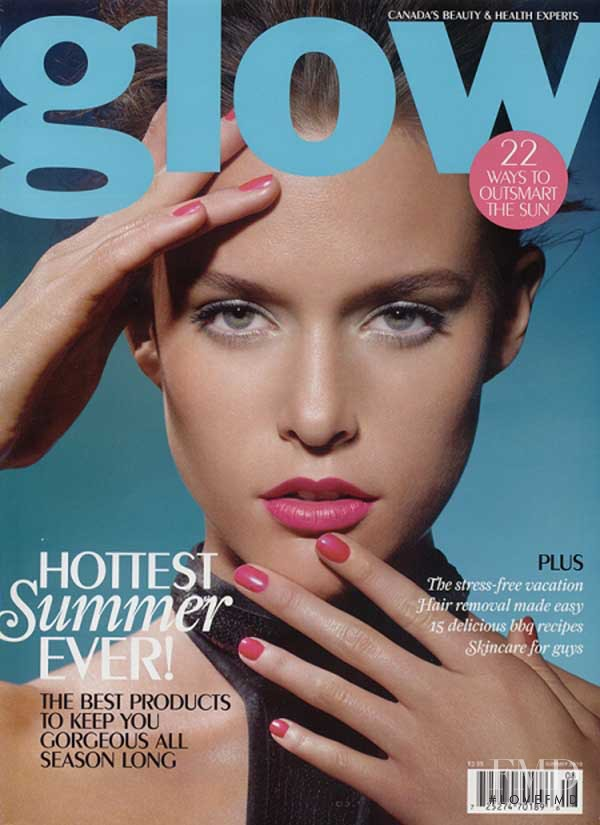 Kim Cloutier featured on the Glow cover from June 2010