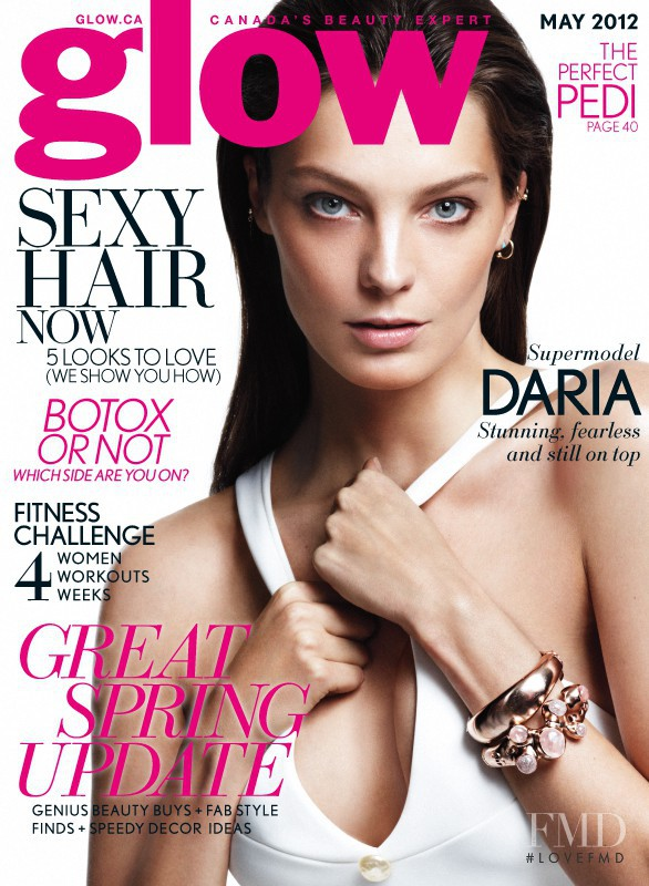 Daria Werbowy featured on the Glow cover from May 2012