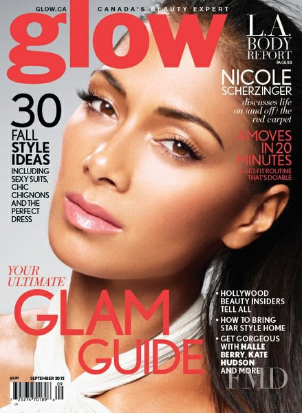 Nicole Scherzinger featured on the Glow cover from September 2012