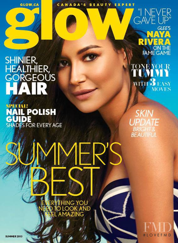 Naya Rivera featured on the Glow cover from June 2013