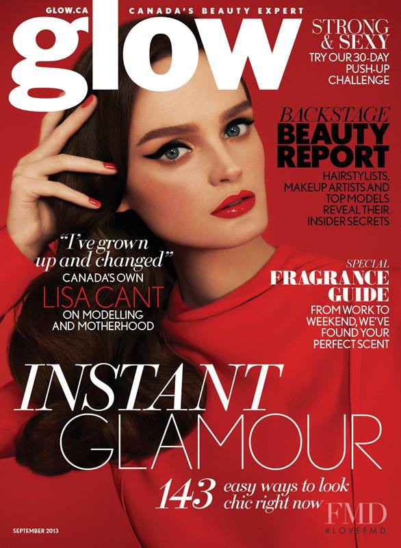 Lisa Cant featured on the Glow cover from September 2013