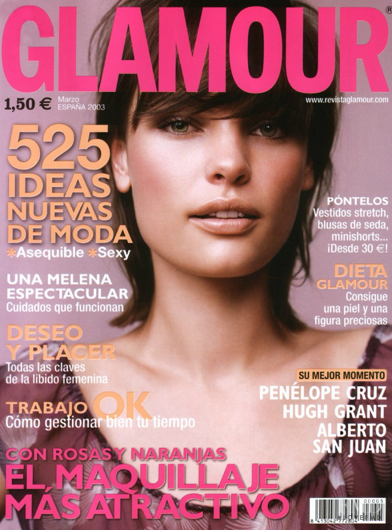 Clare Durkin featured on the Glamour Spain cover from March 2003