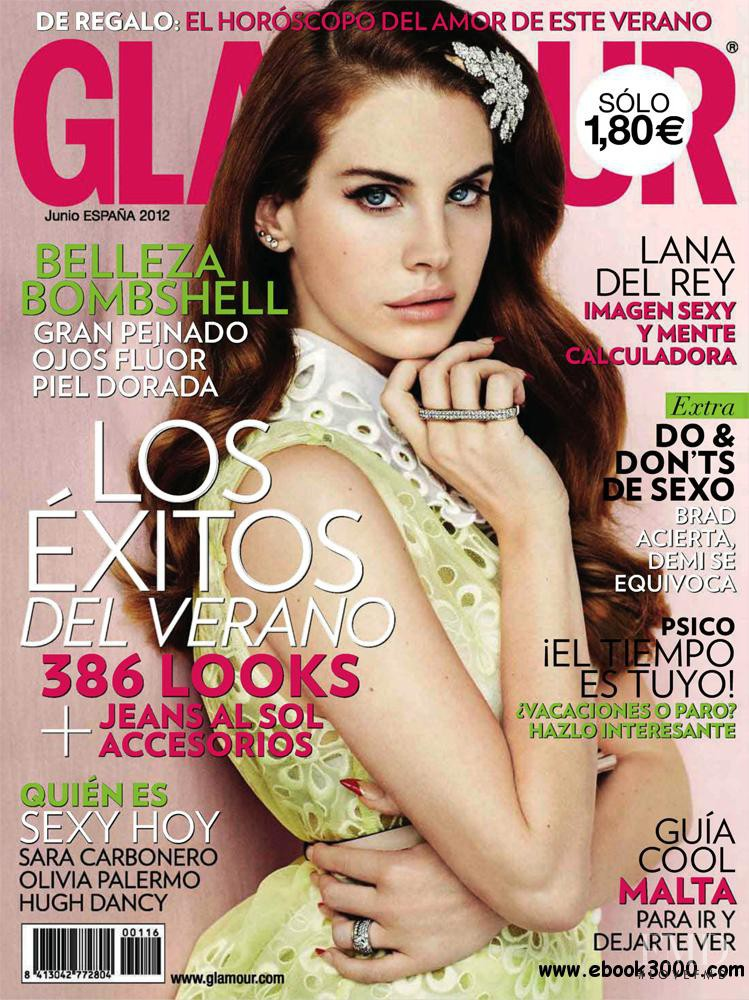 Lana del Rey featured on the Glamour Spain cover from June 2012
