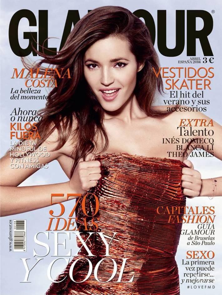 Malena Costa featured on the Glamour Spain cover from April 2014