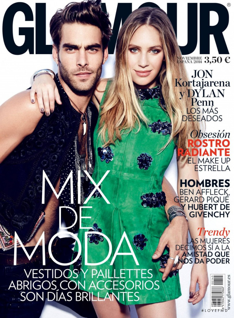 Jon Kortajarena featured on the Glamour Spain cover from November 2014