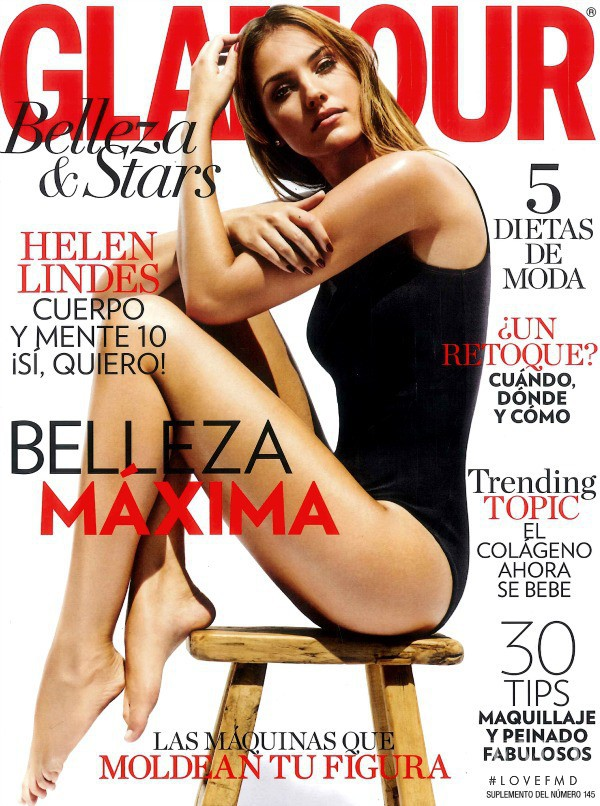 Helen Lindes featured on the Glamour Spain cover from November 2014