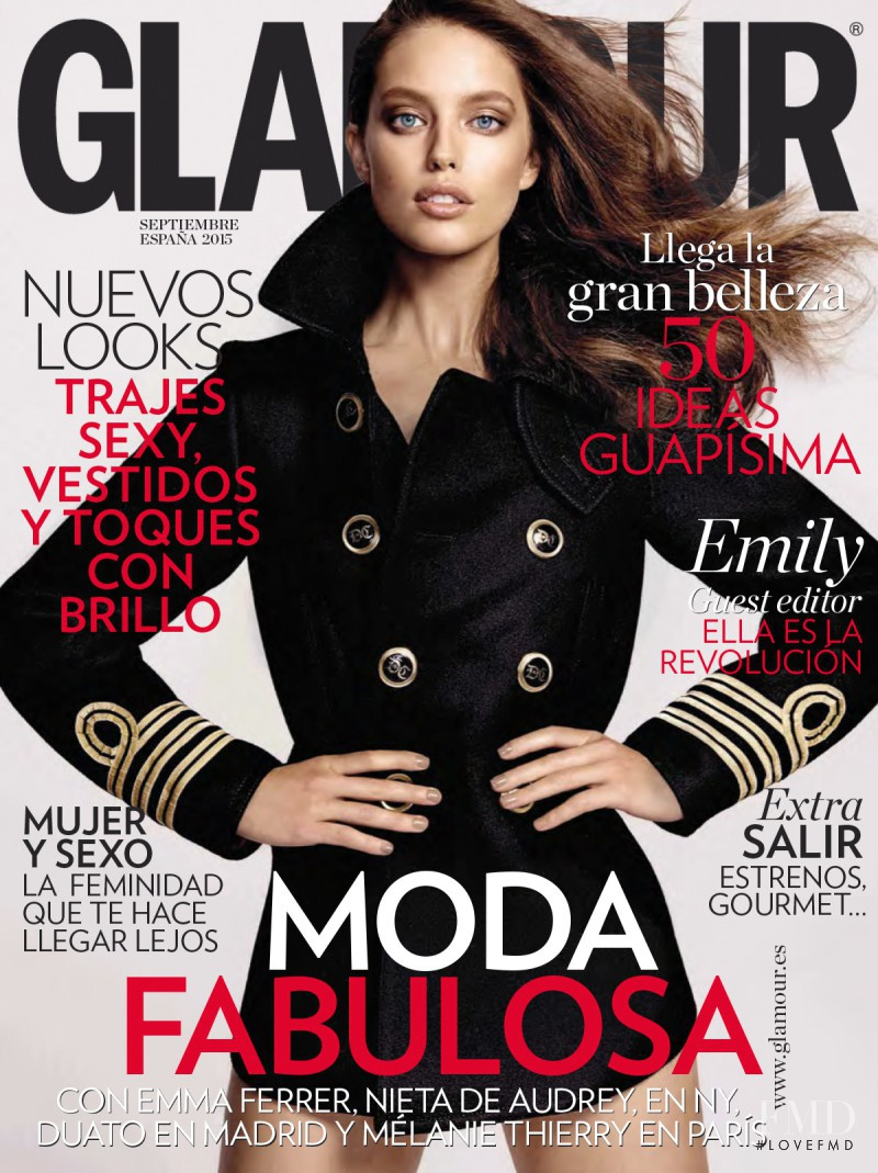 Emily DiDonato featured on the Glamour Spain cover from September 2015