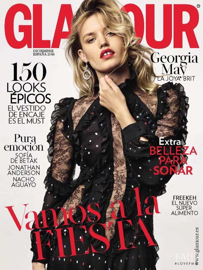 Georgia May Jagger featured on the Glamour Spain cover from December 2016