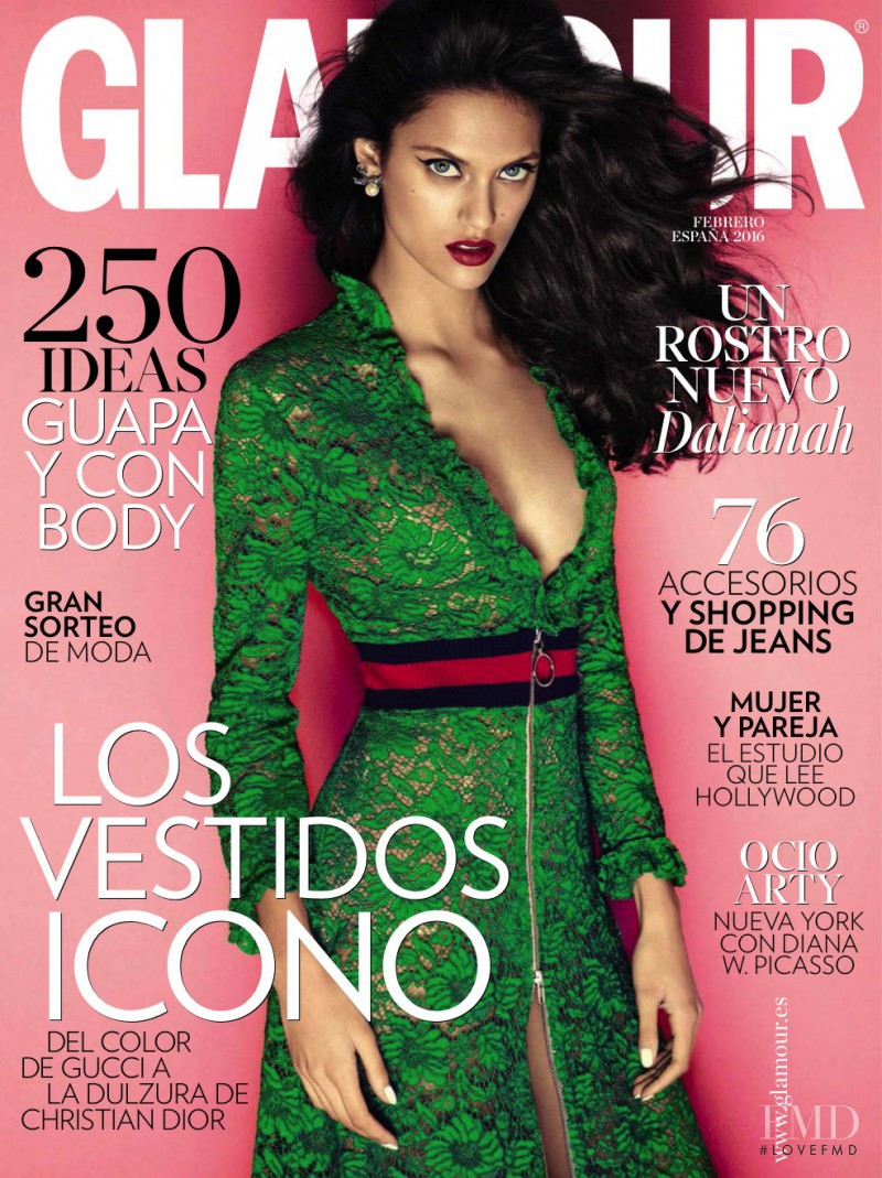 Dalianah Arekion featured on the Glamour Spain cover from February 2016