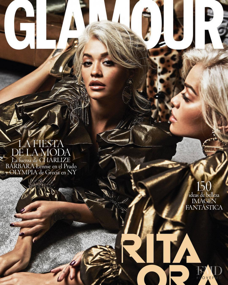 Rita Ora featured on the Glamour Spain cover from December 2018