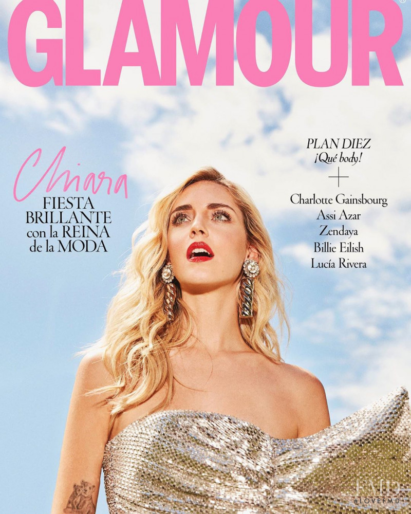 Chiara Ferragni featured on the Glamour Spain cover from July 2019