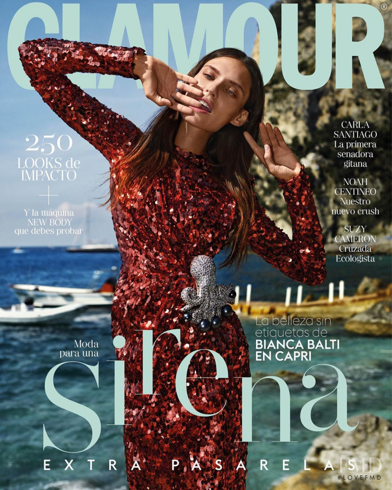 Bianca Balti featured on the Glamour Spain cover from September 2019