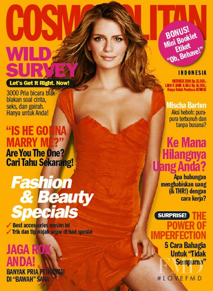 Mischa Barton featured on the Cosmopolitan Indonesia cover from October 2006