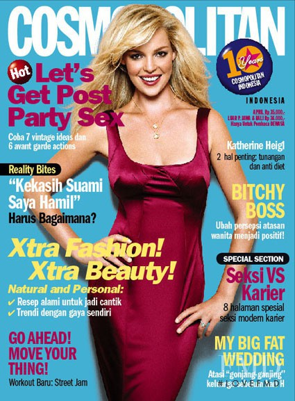 Katherine Heigl featured on the Cosmopolitan Indonesia cover from April 2007
