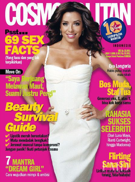 Eva Longoria featured on the Cosmopolitan Indonesia cover from May 2007