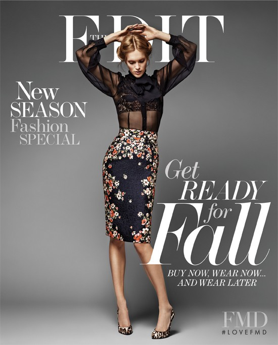 Mirte Maas featured on the Net-A-Porter Magazine cover from July 2013