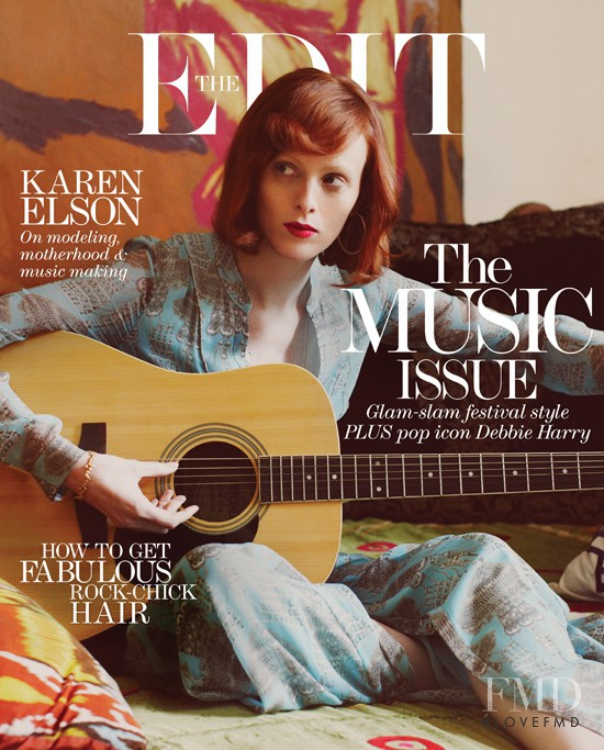 Karen Elson featured on the Net-A-Porter Magazine cover from June 2013