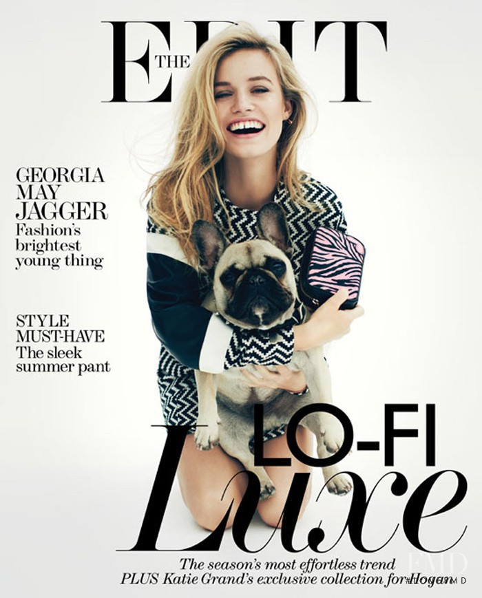 Georgia May Jagger featured on the Net-A-Porter Magazine cover from June 2013